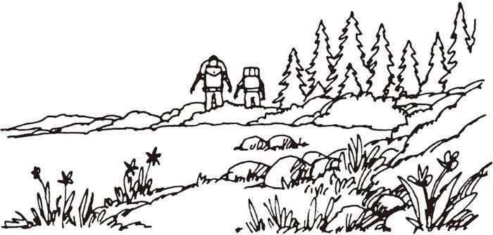 """野外旅行""""不留痕迹"""""""