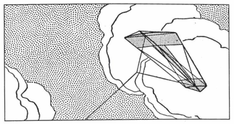 无尾风筝乘气浪前行,就像稳定微风中的飞机。