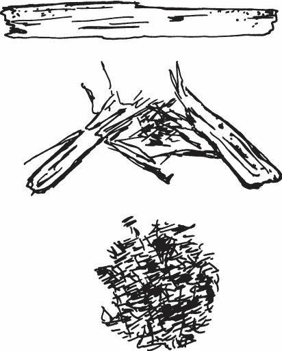 将树皮变为碎片