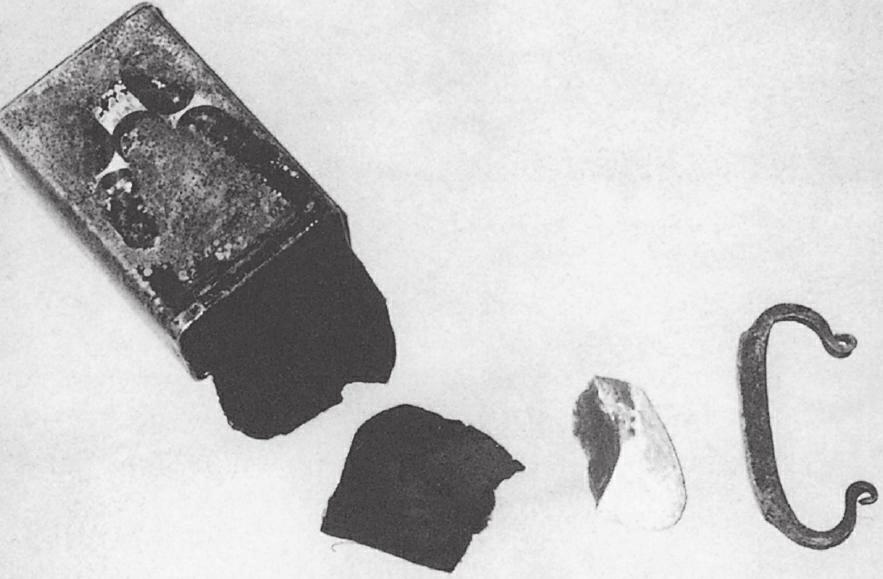 燧石、铁和烧焦的棉