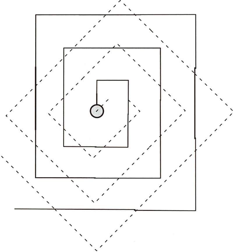 逐渐扩大的方形搜索模式
