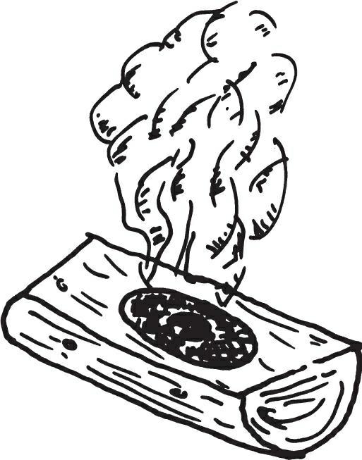 用火炭制作木碗