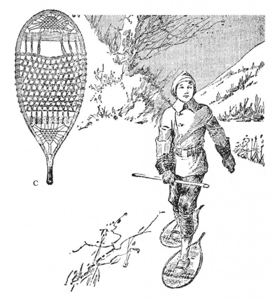 图中显示的样式是一种通用雪鞋,是猎人最喜欢的样式。