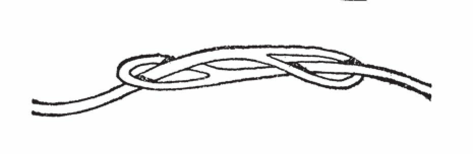 制作无限拼接皮绳的方法是:在皮绳端切割出1个小孔,将需要拼接的2根绳子相互穿过对方绳上的孔。