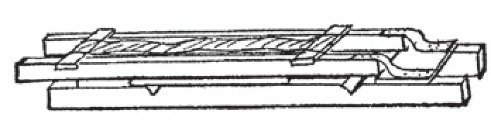 图6 收起的折叠椅雪橇