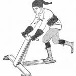冰上滑板车和轮式滑板车推进原理相似,而滑行速度更快。