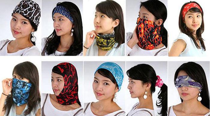 魔术头巾绑法示范