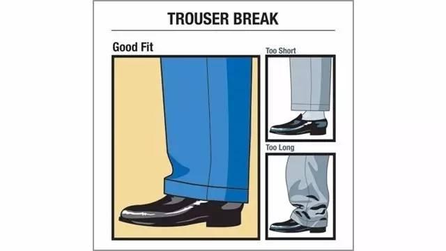 裤脚的合适长度