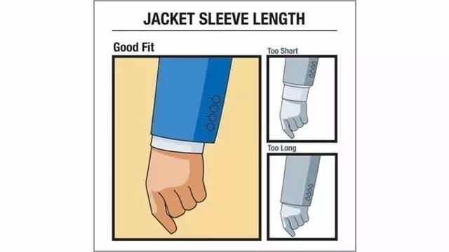 外套和衬衫的合适长度