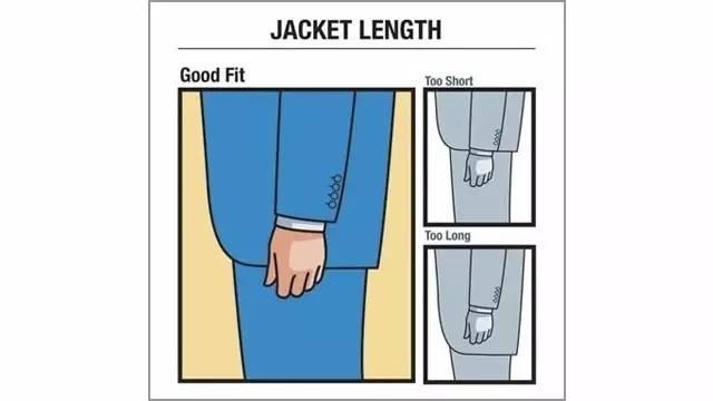 整件外套的合适长度