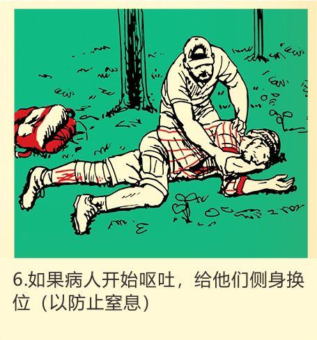 如果病人开始呕吐,给他们侧身换位(以防止窒息)