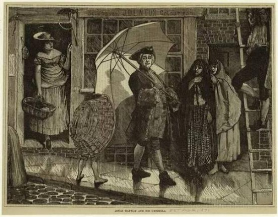 Jonas Hanway在伦敦撑伞招摇过市,还被吃瓜群众狠狠鄙视了