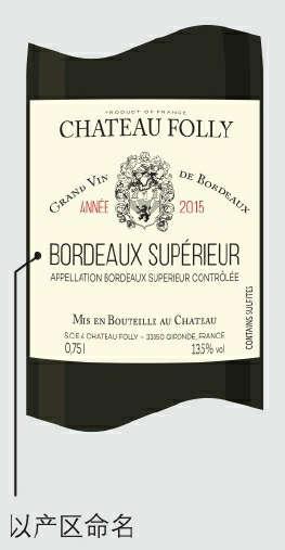 葡萄酒可以产区命名。