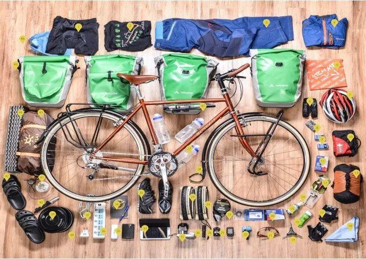 自行车装备分解
