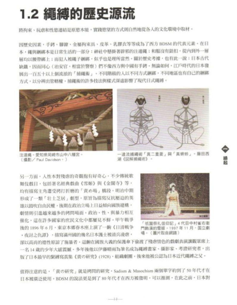 绳缚的历史源流