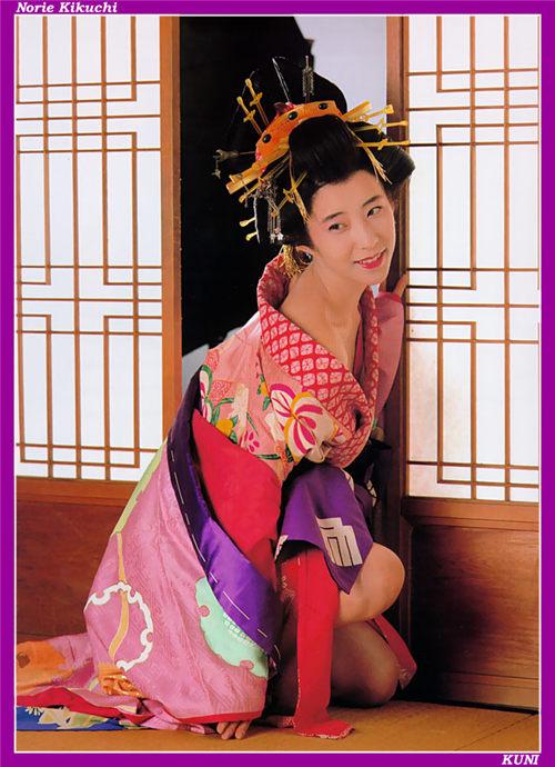 菊地则江 Norie Kikuchi 和服