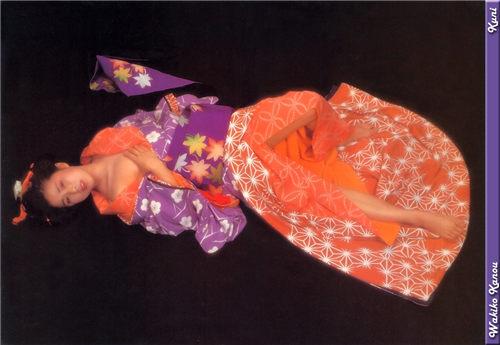 叶和贵子 Wakiko Kano 和服