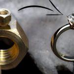 Pablo Cimadevila用铜螺母手工制作钻戒