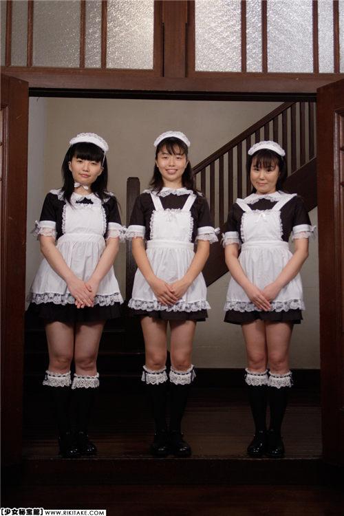 [力武靖]少女秘宝館 メイド3人娘
